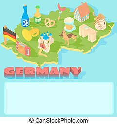 Germany map, cartoon style