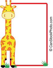 giraffe copyspace in vector format