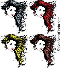 girl face and hair