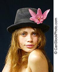 girl is in a cap