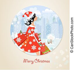 girl santa with purchase for you design