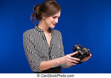 girl with camera