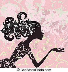 Glamour girl hair ornamentv