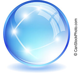 Glass ball illustration