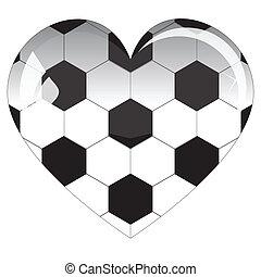 glass heart football