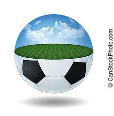 glass transparent ball with field