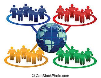 Global communication concept illustration design
