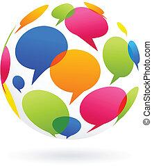 Global communication concept image