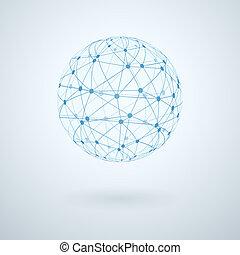 Global network icon vector illustration