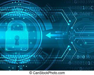 Global security service futuristic background innovation. Vector illustration.