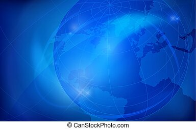 Globe earth background. Vector illustration.
