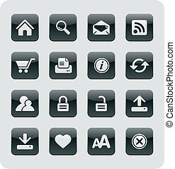 Glossy Internet / Web Icons