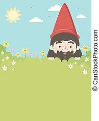 Gnome Garden Invitation Illustration