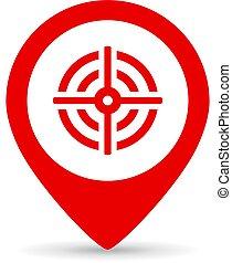 Goal marker vector icon