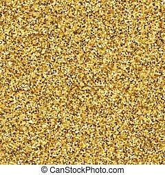 Gold glitter texture, seamless background Vector illustration