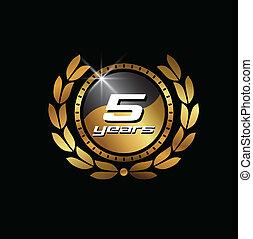 Gold Seal 5 year image logo