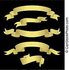 Golden Banners (vector)