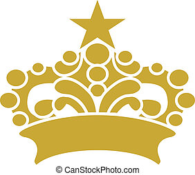 Golden Crown Tiara Vector Clipart Design Illustration created in Adobe Illudstrator in EPS format for use in web and print layouts and projects.
