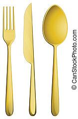 Golden dining set