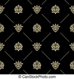 Golden royal baroque pattern