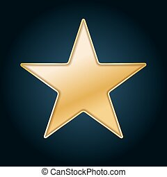 golden star background cut out in black paper