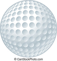 Vector illustration of a golf ball.