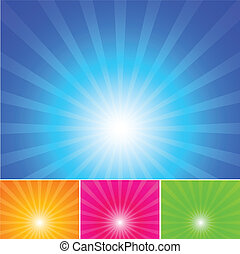 good base for happy and feel good background of blue sky sun and rays