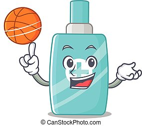 Gorgeous ointment cream mascot design style with basketball