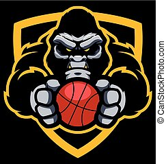 Gorilla Basketball Mascot