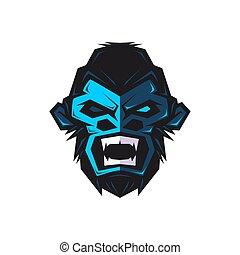gorilla mascot and e sport logo