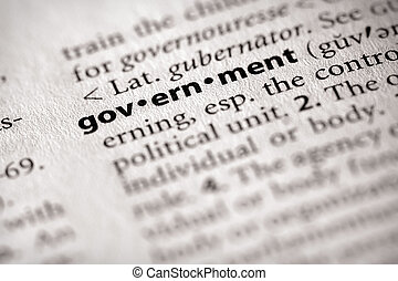 """Selective focus on the word """"government"""". Many more word photos in my portfolio..."""