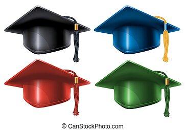 Graduation caps set