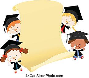 Kids celebrating graduation