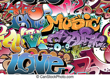 Graffiti urban background seamless