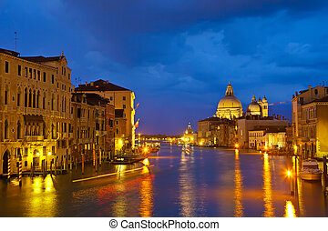 Grand canal at evening, Venice
