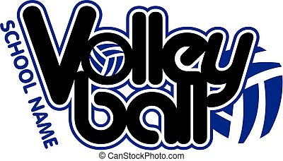 graphic team volleyball design with ball