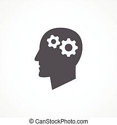 Gray Knowledge icon on white