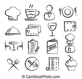 Restaurant Doodle Icons