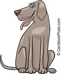 great dane dog cartoon illustration