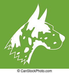 Great dane dog icon green