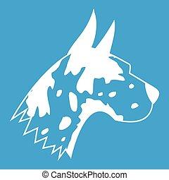 Great dane dog icon white