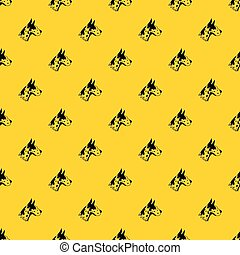 Great dane dog pattern vector