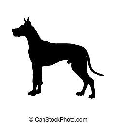 Great Dane Dog Silhouette