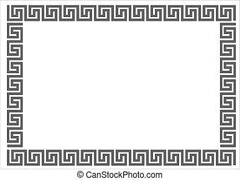 Greek frame on white background. Greek frame on white background. Vector.