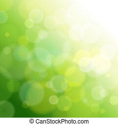 green abstract light background. Vector illustration .