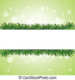 green background with grass element