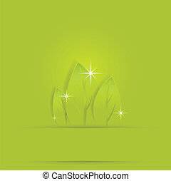 green background with nice leaf pre