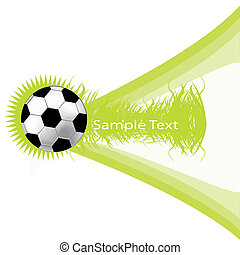 green background with soccer ball