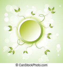 green element background