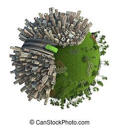 green energy transport concept planet